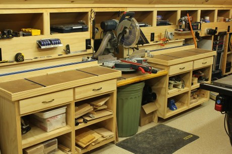 Woodshop-Miter-Saw-Bench-and-Storage